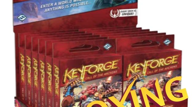 Unboxing Keyforge Booster (12 packs) By Joel Wright
