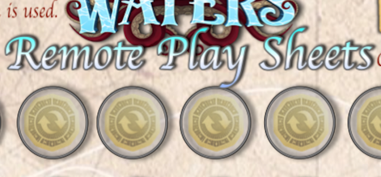 Joel Created Player Aid Sheets for Remote Playing with Plaid Hat Game's Forgotten Waters